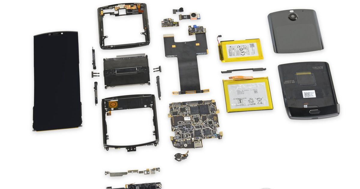 Motorola Razr teardown finds it practically impossible to fix