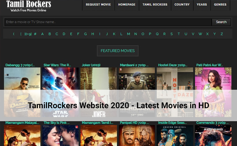 TamilRockers Website 2020 - Latest Movies in HD