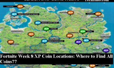 Fortnite Week 8 XP Coin Locations: Where to Find All Coins