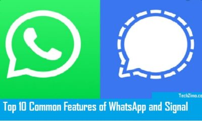 common features of WhatsApp and Signal