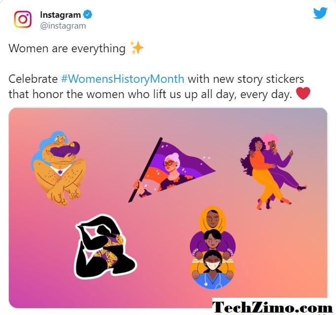 Instagram unveils new stickers to celebrate women's day